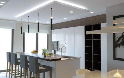 Cómo iluminar la isla de tu cocina