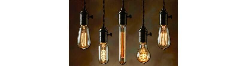 Bombillas Decorativas y Vintage. FILAMENTO DE LED y CARBONO
