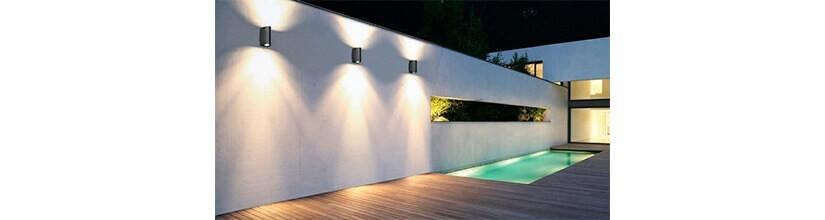 Lámparas Exterior. Iluminación de jardines. Decoración exterior.